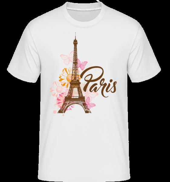 Paris France Brown -  Shirtinator Men's T-Shirt - White - Vorn