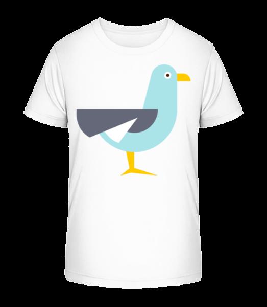 Pigeon Comic - Kid's Premium Bio T-Shirt - White - Vorn