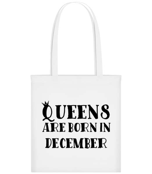 Queens Are Born In December - Carrier Bag - White - Vorn