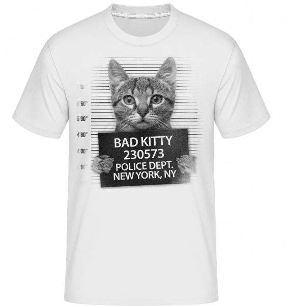Criminal Cat - Shirtinator Men's T-Shirt - White - Vorn