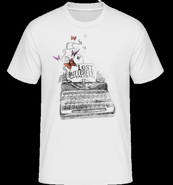Lost Butterflys -  Shirtinator Men's T-Shirt - White - Vorn