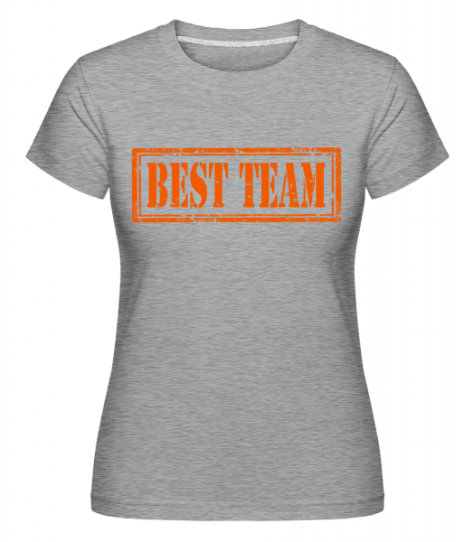 Best Team Sign - Shirtinator Women's T-Shirt - Heather grey - Vorn