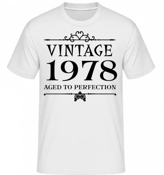 Vintage 1978 Perfection - Shirtinator Men's T-Shirt - White - Vorn