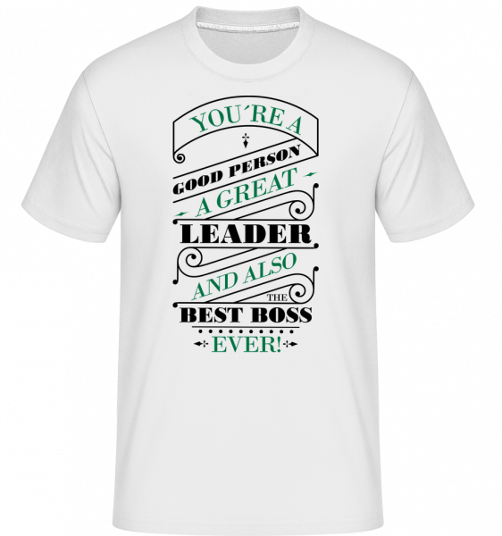Best Boss Ever -  Shirtinator Men's T-Shirt - White - Vorn