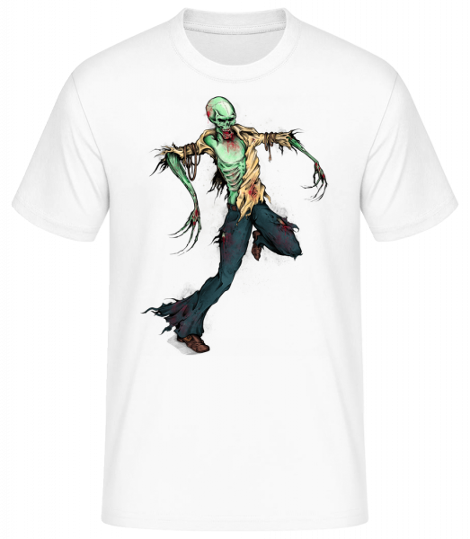 Creepy Zombie - Men's Basic T-Shirt - White - Vorn