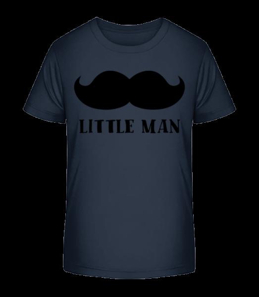 Little Man Mustache - Kid's Premium Bio T-Shirt - Navy - Vorn