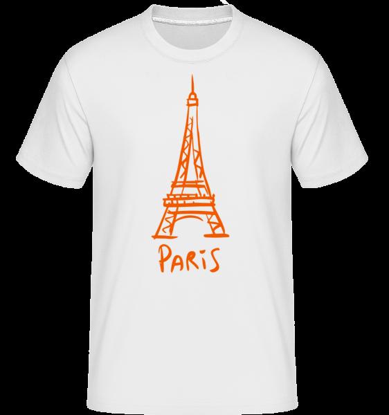Paris Sign - Shirtinator Men's T-Shirt - White - Vorn