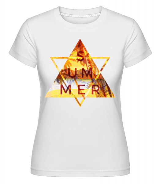Summer Icon Triangle - Shirtinator Women's T-Shirt - White - Vorn