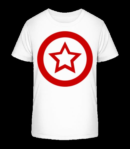 Star Icon Red - Kid's Premium Bio T-Shirt - White - Vorn