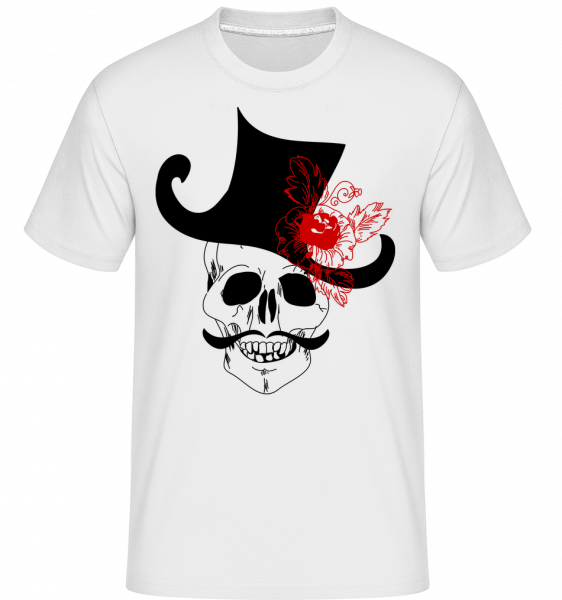 Skull With Hat - Shirtinator Men's T-Shirt - White - Vorn