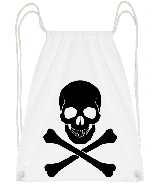 Skull And Bones - Drawstring Backpack - White - Vorn