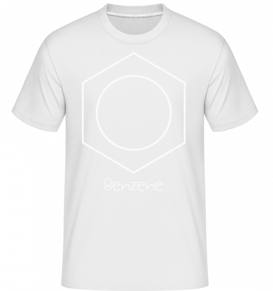 Benzene -  Shirtinator Men's T-Shirt - White - Vorn