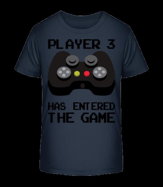 Player 3 Entered The Game - Kid's Premium Bio T-Shirt - Navy - Vorn