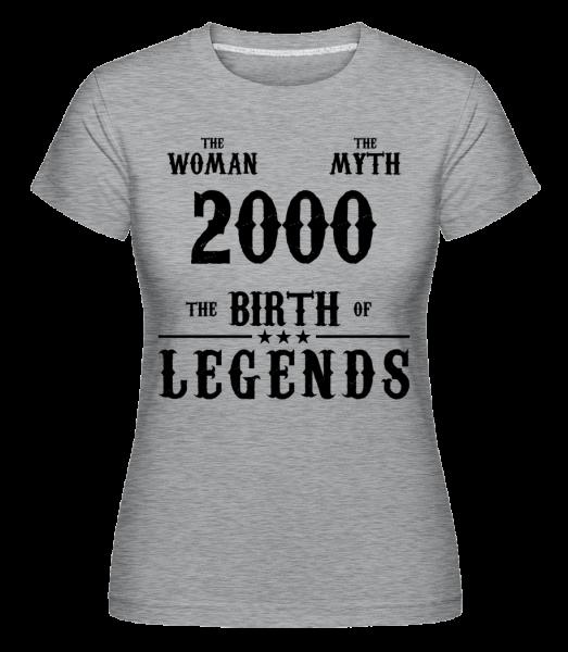 The Myth Woman 2000 -  Shirtinator Women's T-Shirt - Heather grey - Vorn