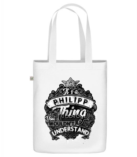 "It's A Philipp Thing - Organic ""Earth Positive"" tote bag - White - Vorn"