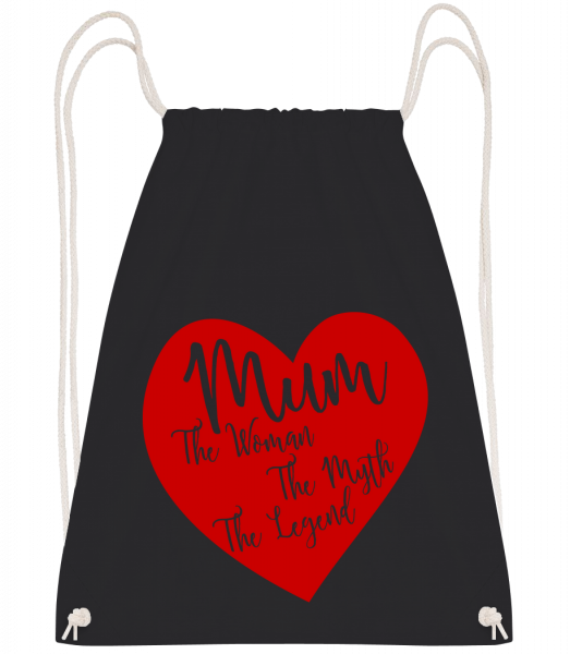 Mum - The Legend - Drawstring Backpack - Black - Vorn