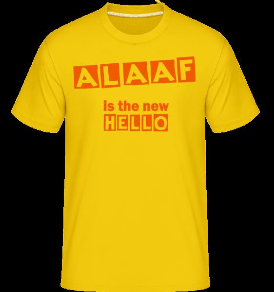 Alaaf Is The New Hello - Shirtinator Men's T-Shirt - Golden yellow - Vorn