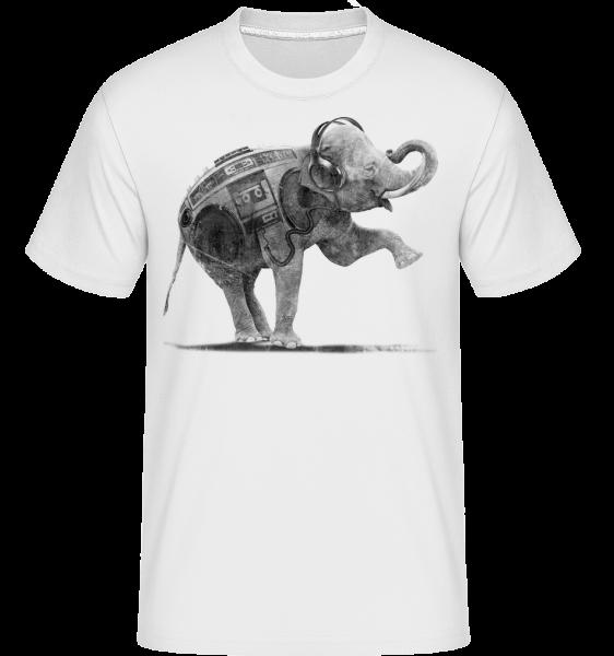 Ghettoblaster Elephant -  Shirtinator Men's T-Shirt - White - Vorn