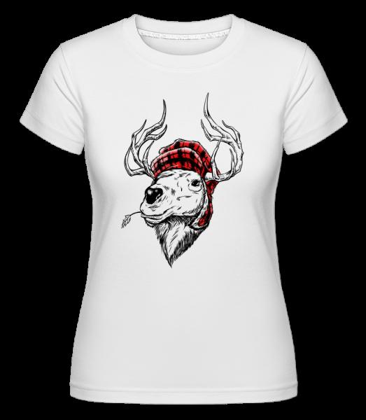 Christmas Reindeer - Shirtinator Women's T-Shirt - White - Vorn