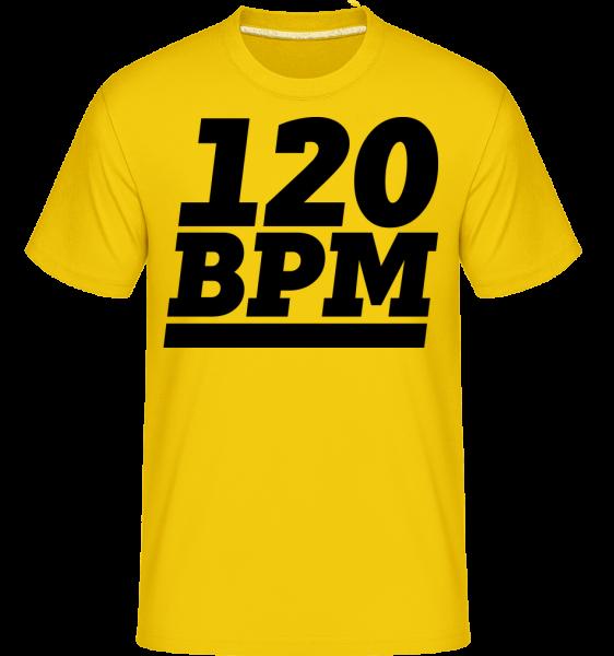 120 BPM Logo -  Shirtinator Men's T-Shirt - Golden yellow - Vorn