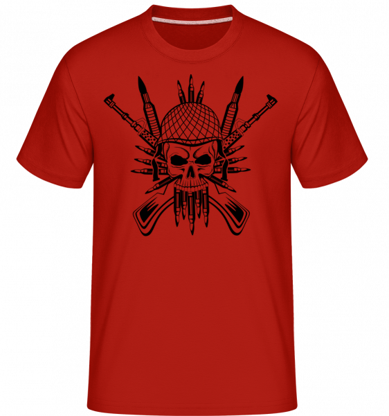 Soldier Skull Tattoo -  Shirtinator Men's T-Shirt - Red - Vorn