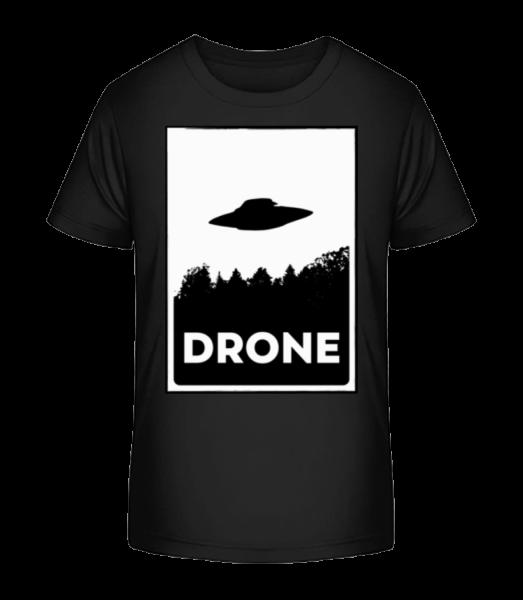 Drohne UFO - Kid's Premium Bio T-Shirt - Black - Vorn