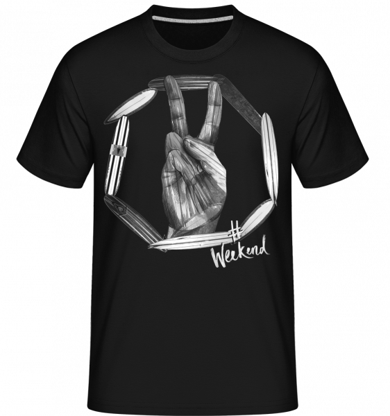 Weekend Peace - Shirtinator Men's T-Shirt - Black - Vorn