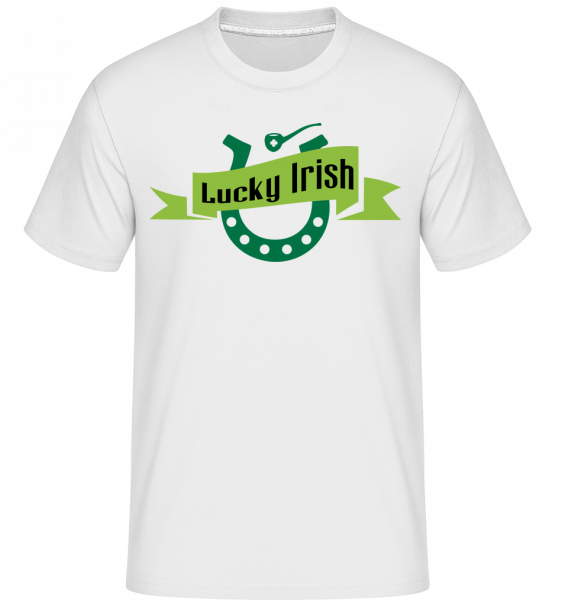 Lucky Irish Sign - Shirtinator Men's T-Shirt - White - Vorn