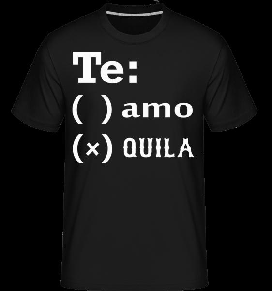 Te Amo Tequila -  Shirtinator Men's T-Shirt - Black - Vorn