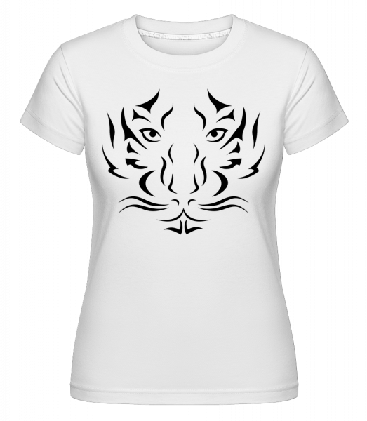 Tiger Head -  Shirtinator Women's T-Shirt - White - Vorn