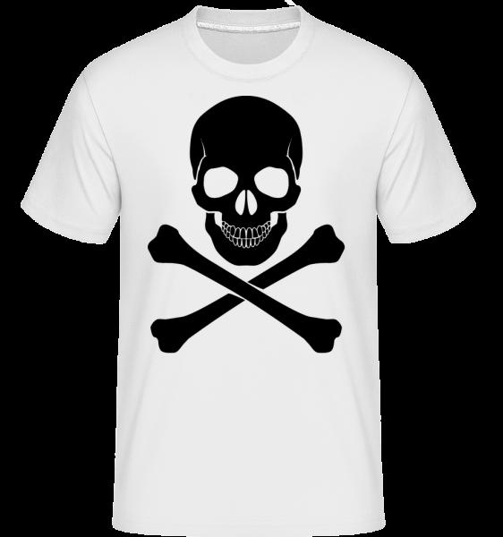 Skull And Bones - Shirtinator Men's T-Shirt - White - Vorn