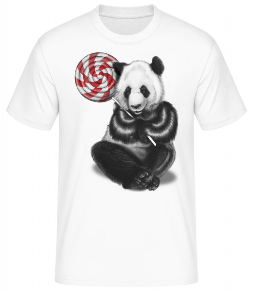 Candy Bear - Men's Basic T-Shirt - White - Vorn