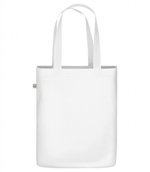 "Organic ""Earth Positive"" tote bag - White - Vorn"