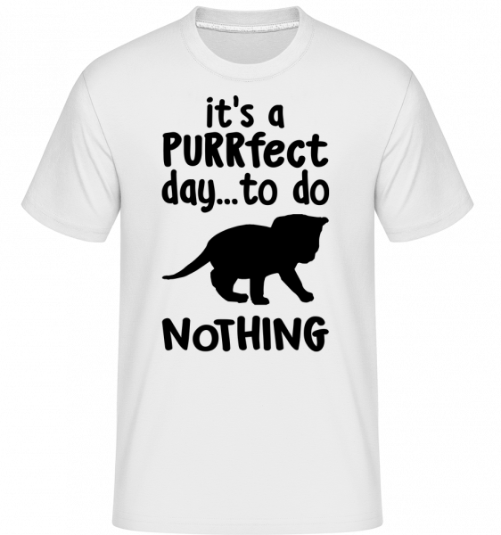 It's A Purrfect Day -  Shirtinator Men's T-Shirt - White - Vorn