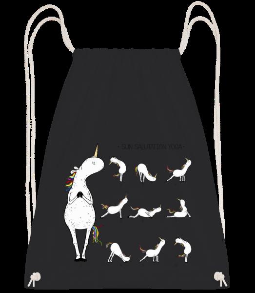 Sun Salutation Yoga - Drawstring Backpack - Black - Vorn