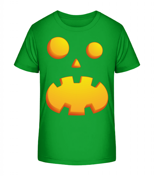 Pumpkin Face Astonished - Kid's Premium Bio T-Shirt - Green - Vorn