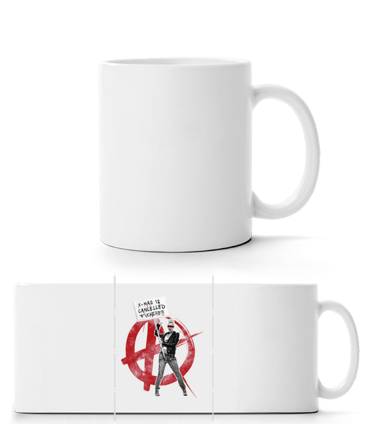 XMas Is Cancelled Fuckers - Panorama Mug - White - Vorn