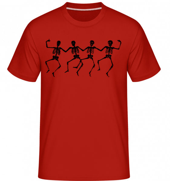 Dancing Skeletons - Shirtinator Men's T-Shirt - Red - Vorn