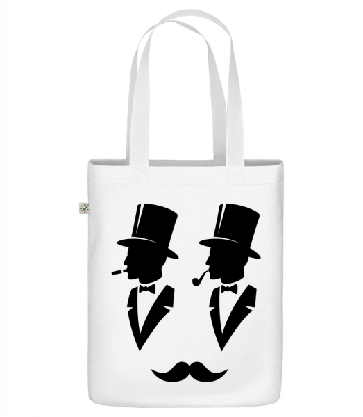 """Two Gentlemen - Organic """"Earth Positive"""" tote bag - White - Vorn"""