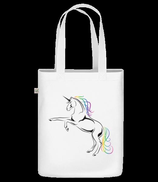 """Unicorn - Organic """"Earth Positive"""" tote bag - White - Vorn"""