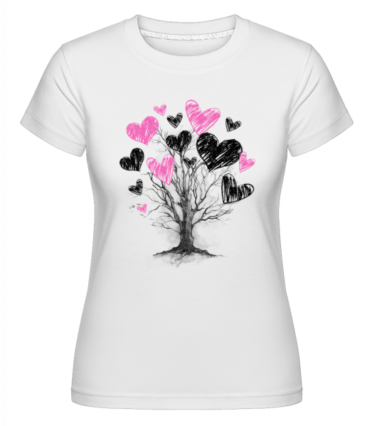 Heart Tree -  Shirtinator Women's T-Shirt - White - Vorn