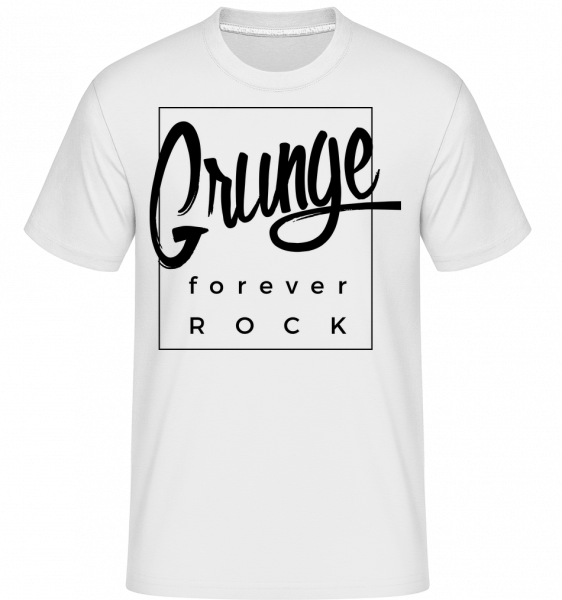 Grunge Forever Rock -  Shirtinator Men's T-Shirt - White - Vorn