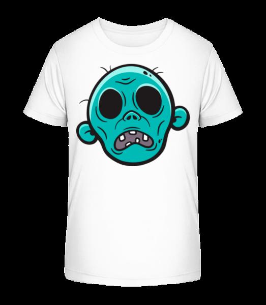 Zombie without Eyes - Kid's Premium Bio T-Shirt - White - Vorn
