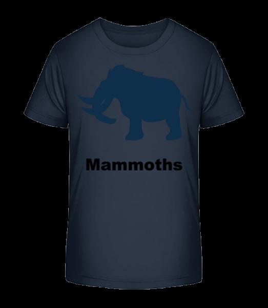 Mammoths - Kid's Premium Bio T-Shirt - Navy - Vorn