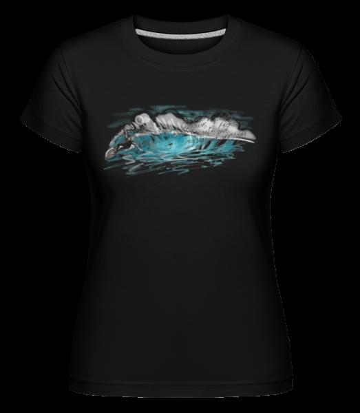Surfer Wave -  Shirtinator Women's T-Shirt - Black - Vorn