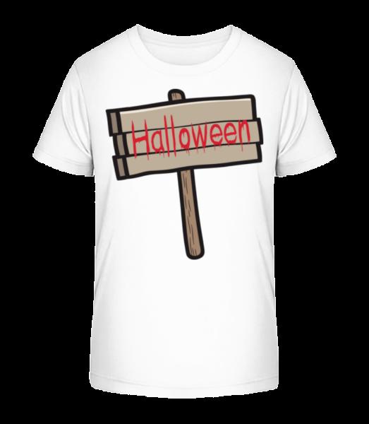 Halloween Sign - Kid's Premium Bio T-Shirt - White - Vorn