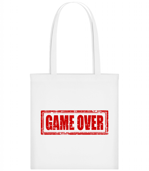 Game Over Sign Red - Carrier Bag - White - Vorn