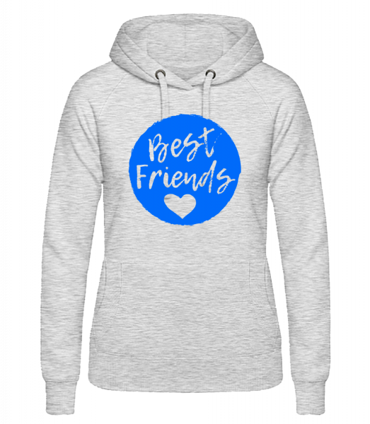 Best Friends Love - Women's hoodie - Heather grey - Vorn