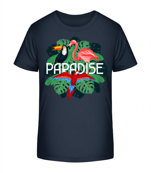 Paradise Icon - Kid's Premium Bio T-Shirt - Navy - Vorn