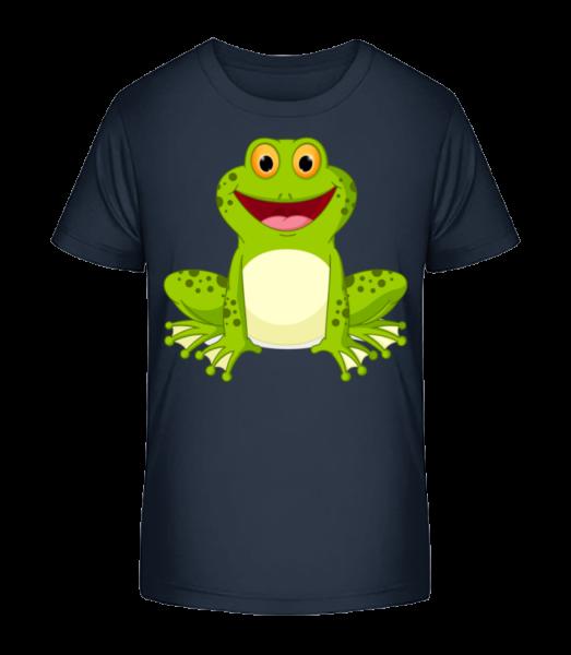 Frog - Kid's Premium Bio T-Shirt - Navy - Vorn